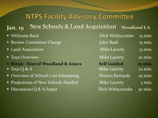 NTPS Facility Advisory Committee