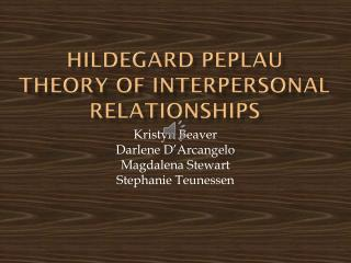 Hildegard  Peplau Theory of Interpersonal Relationships