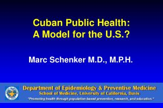 Cuban Public Health: A Model for the U.S.?