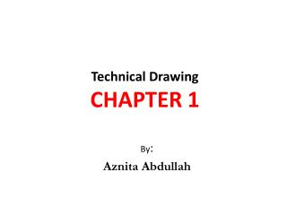 Technical  Drawing CHAPTER 1