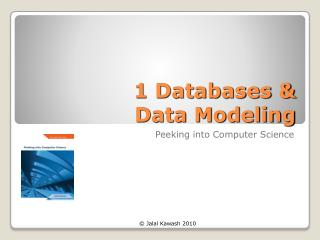 1 Databases & Data Modeling