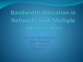 Bandwidth Allocation in Networks with Multiple Interferences
