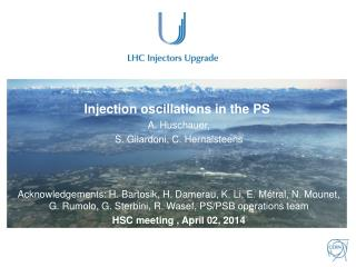 Injection oscillations in the PS