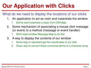 Our Application with Clicks