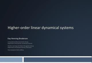 Higher-order linear dynamical systems