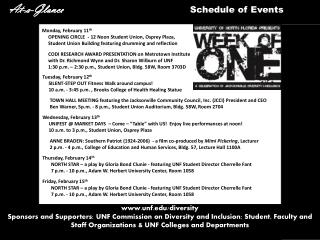At-a-Glance                                            Schedule of Events
