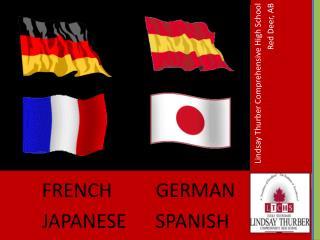 FRENCH GERMAN JAPANESE SPANISH
