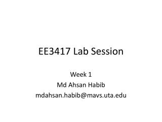 EE3417 Lab Session
