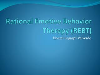 Rational Emotive Behavior Therapy (REBT)
