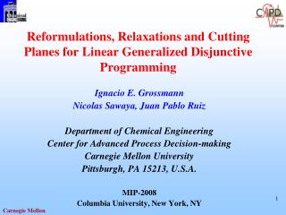 Reformulations, Relaxations and Cutting Planes for Linear Generalized Disjunctive Programming