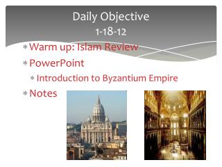 Daily Objective  1-18-12