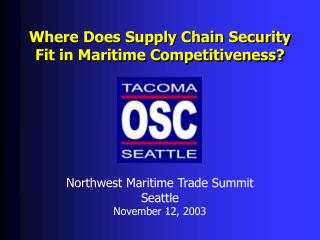 Where Does Supply Chain Security Fit in Maritime Competitiveness?