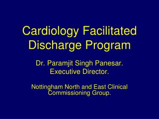Cardiology Facilitated Discharge Program
