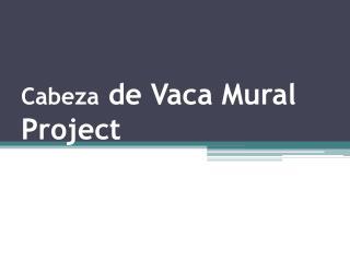 Cabeza de Vaca Mural Project