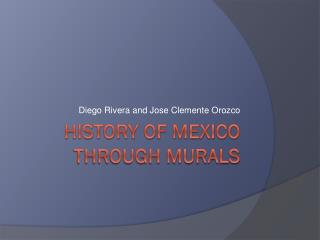 History of Mexico through murals