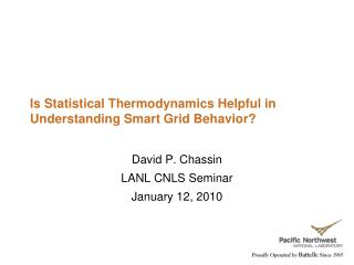 Is Statistical Thermodynamics Helpful in Understanding Smart Grid Behavior?