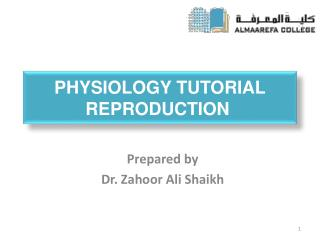 Physiology Tutorial REPRODUCTION