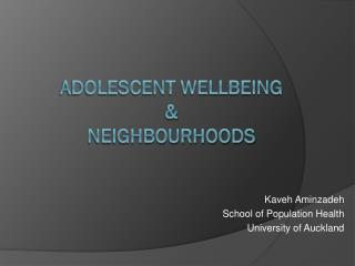 adolescent wellbeing  & Neighbourhoods