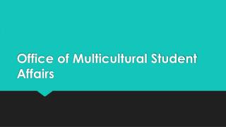 Office of Multicultural Student Affairs