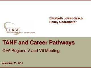 TANF and Career Pathways