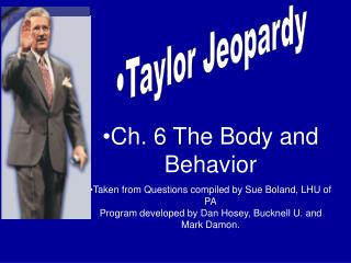 Taylor Jeopardy
