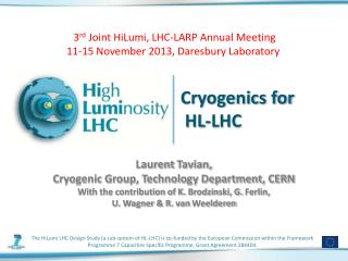 Cryogenics for  HL-LHC