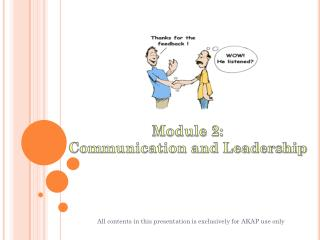 Module 2: Communication and Leadership