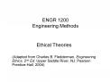 ENGR 1200 Engineering Methods