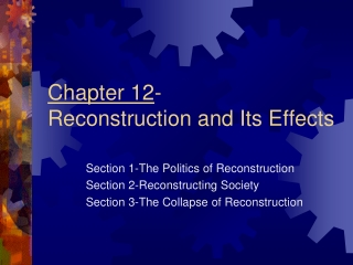 Chapter 12   Reconstruction