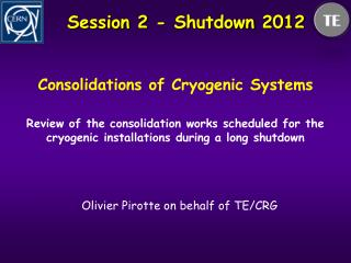 Session 2 -  Shutdown  2012
