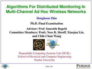 Algorithms For Distributed Monitoring In Multi-Channel Ad Hoc Wireless Networks