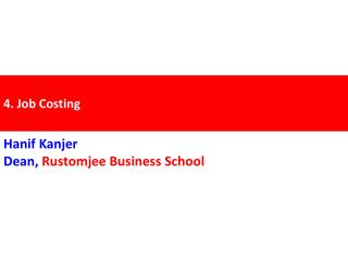 4. Job Costing