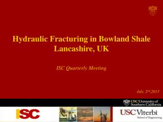 Hydraulic Fracturing in  Bowland  Shale Lancashire, UK