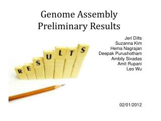 Genome Assembly Preliminary Results