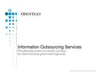 Information Outsourcing Services