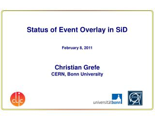 Status of Event Overlay in  SiD