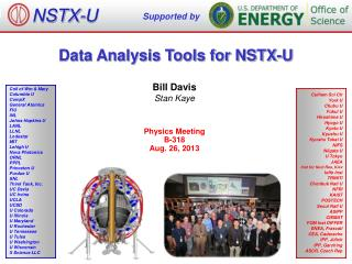 Data Analysis  Tools for NSTX-U