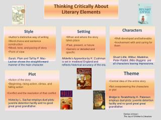 Thinking Critically About Literary Elements
