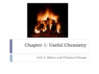 Chapter 1: Useful Chemistry