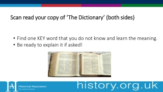 S can read your copy of 'The Dictionary' (both sides)