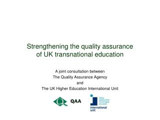 Strengthening the quality assurance  of UK transnational education