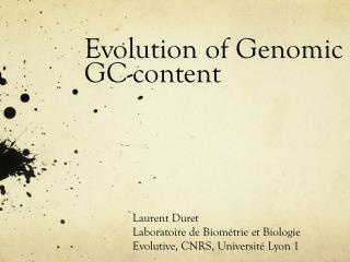 Evolution of  Genomic GC-content