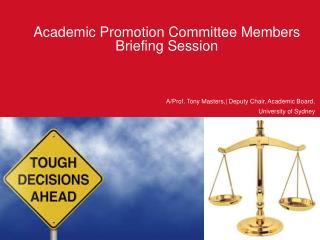 Academic Promotion Committee Members Briefing Session