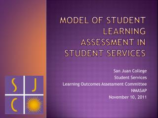 Model of Student learning assessment in student services
