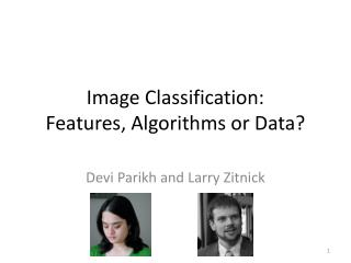 Image Classification:  Features, Algorithms or Data?