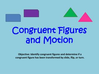 Congruent Figures and Motion