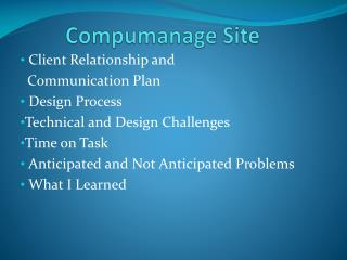 Compumanage  Site