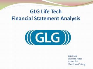 GLG Life Tech Financial  Statement Analysis