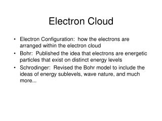 Electron Cloud
