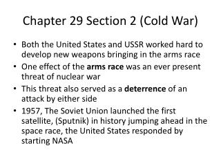 Chapter 29 Section 2 (Cold War)